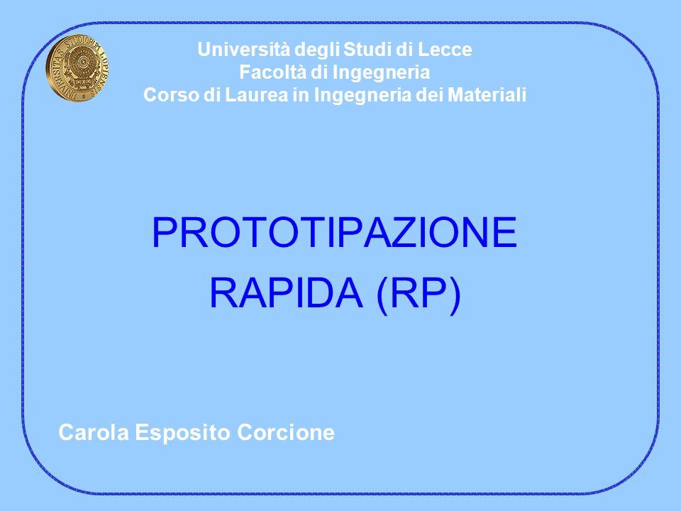 PROTOTIPAZIONE RAPIDA (RP) Carola Esposito Corcione