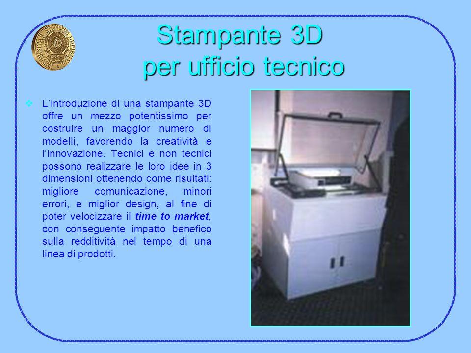 Stampante 3D per ufficio tecnico