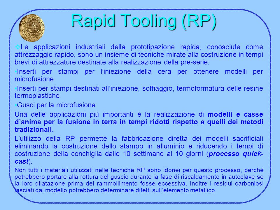 Rapid Tooling (RP)