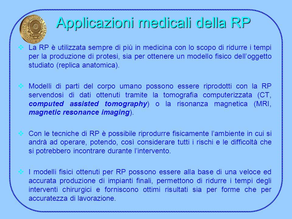 Applicazioni medicali della RP