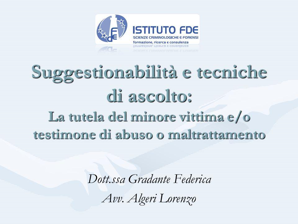 Dott.ssa Gradante Federica Avv. Algeri Lorenzo
