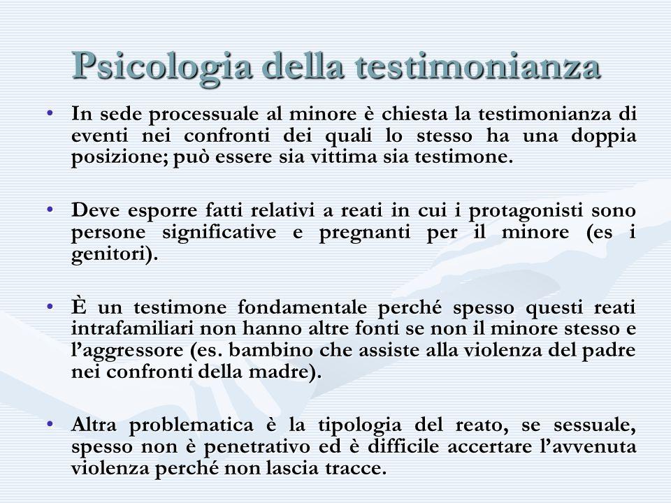 Psicologia della testimonianza