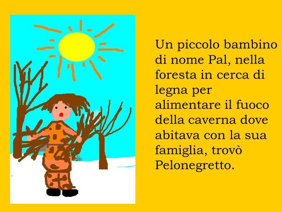 Un piccolo bambino di nome Pal, nella foresta in cerca di legna per alimentare il fuoco della caverna dove abitava con la sua famiglia, trovò Pelonegretto.