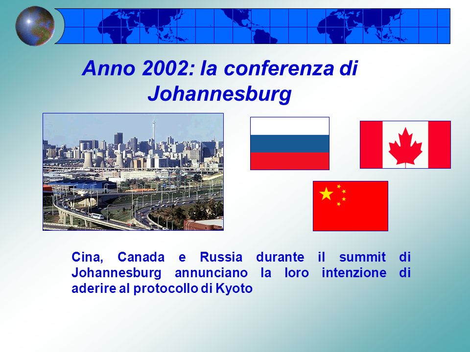 Anno 2002: la conferenza di Johannesburg