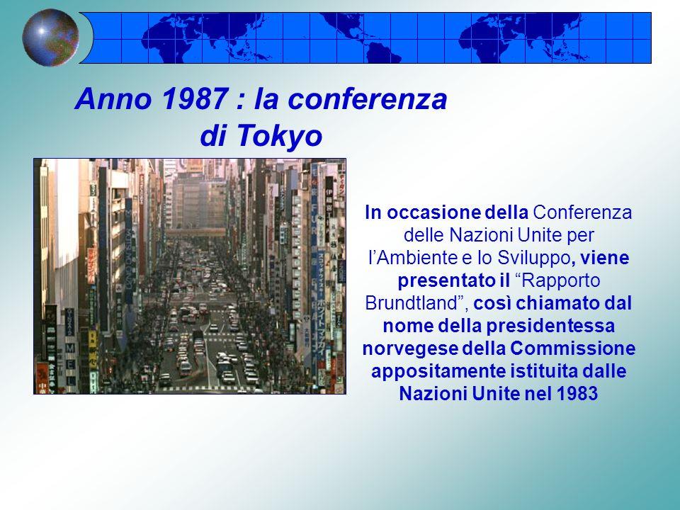 Anno 1987 : la conferenza di Tokyo