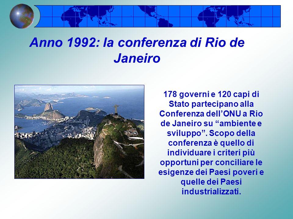 Anno 1992: la conferenza di Rio de Janeiro