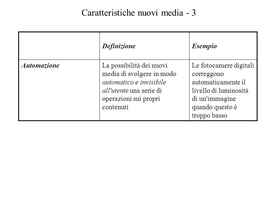 Caratteristiche nuovi media - 3