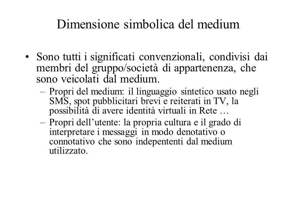 Dimensione simbolica del medium