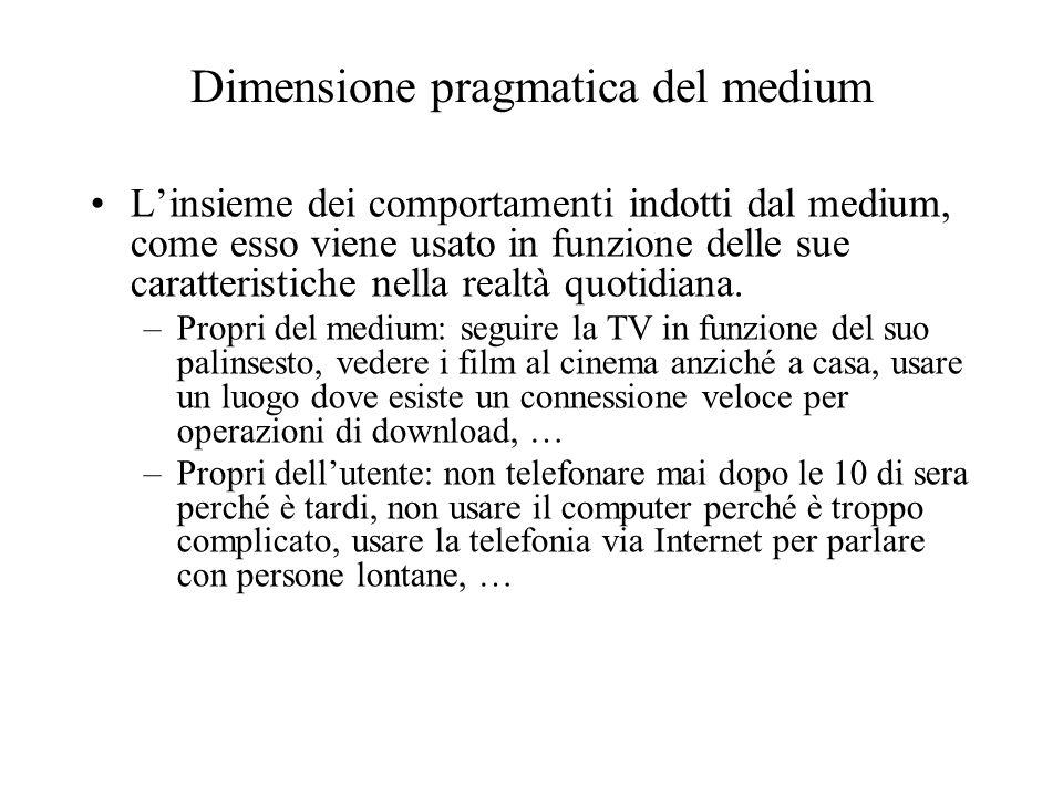 Dimensione pragmatica del medium