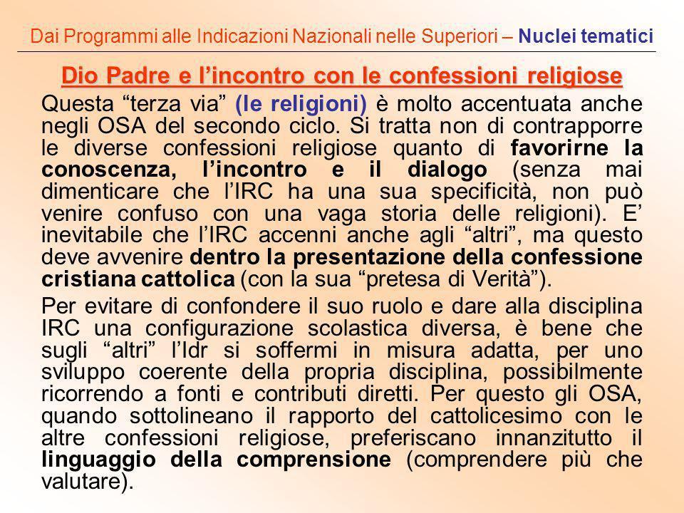 Dio Padre e l'incontro con le confessioni religiose