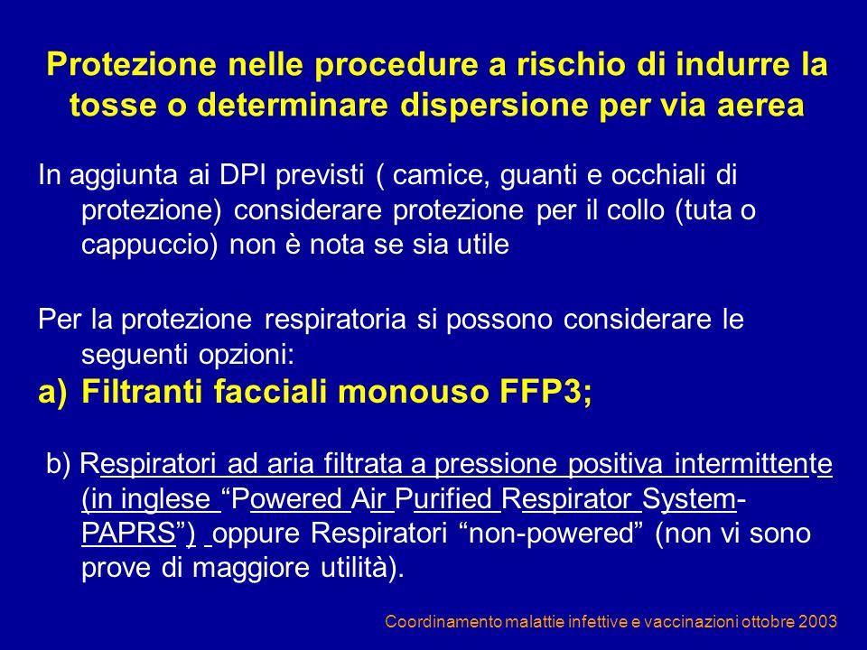 Filtranti facciali monouso FFP3;