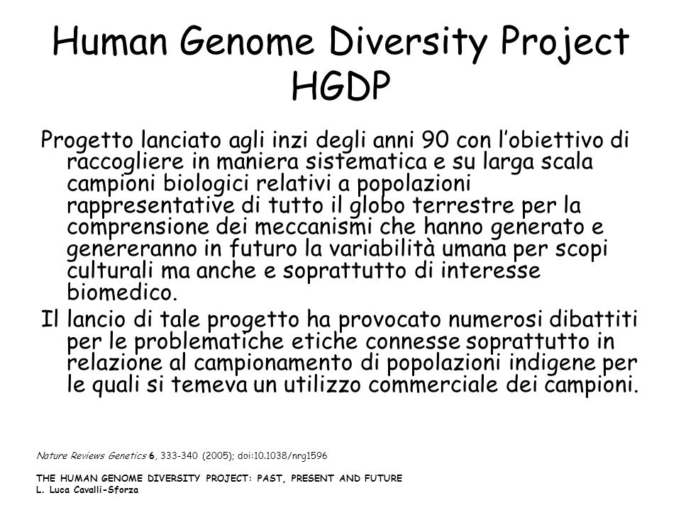 Human Genome Diversity Project HGDP