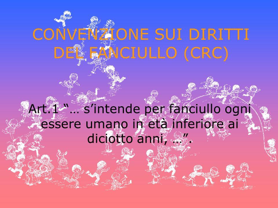CONVENZIONE SUI DIRITTI DEL FANCIULLO (CRC)