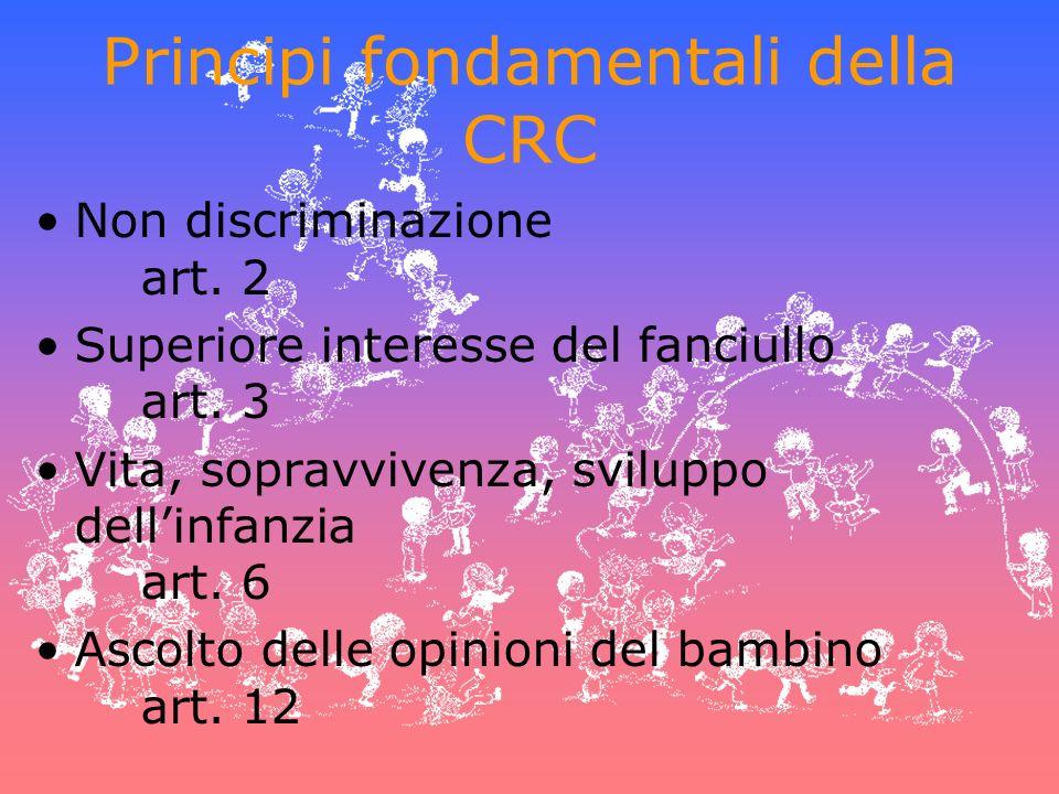 Principi fondamentali della CRC