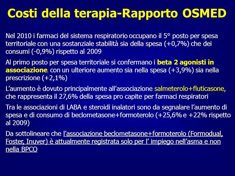 Costi della terapia-Rapporto OSMED