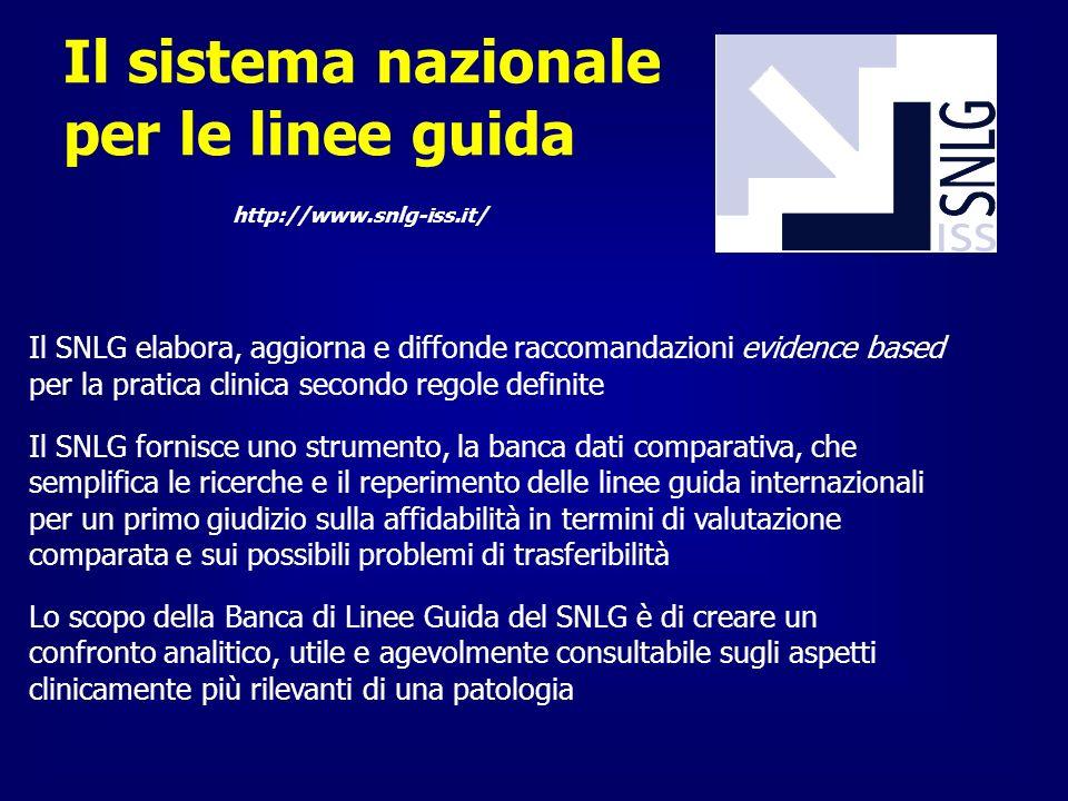 Il sistema nazionale per le linee guida