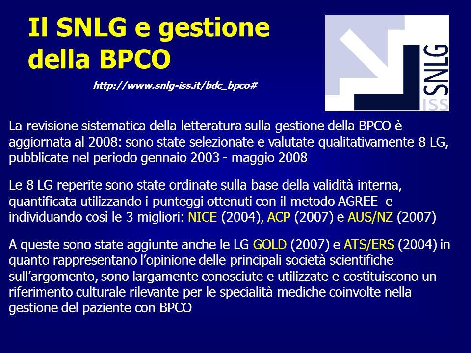 Il SNLG e gestione della BPCO