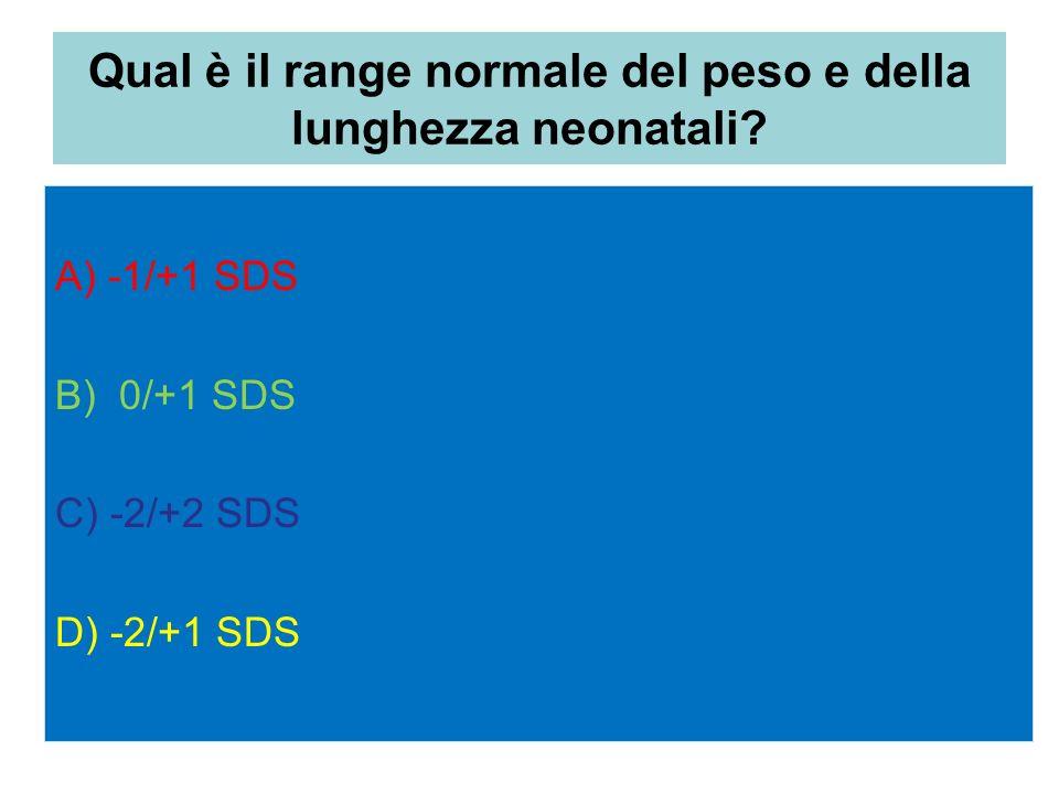 Qual è il range normale del peso e della lunghezza neonatali
