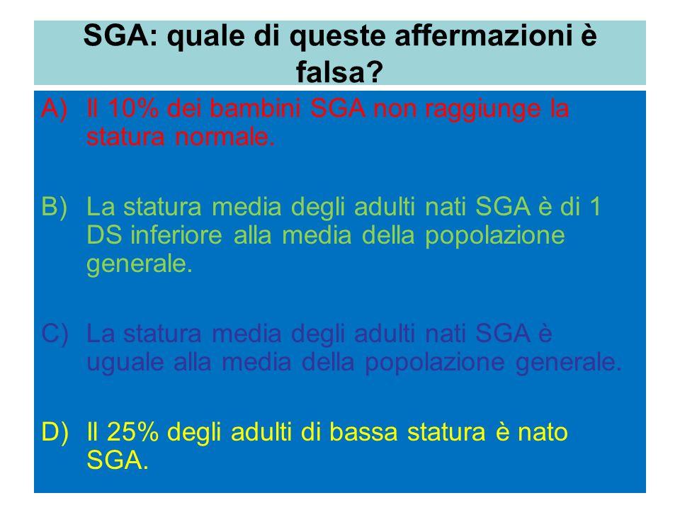 SGA: quale di queste affermazioni è falsa