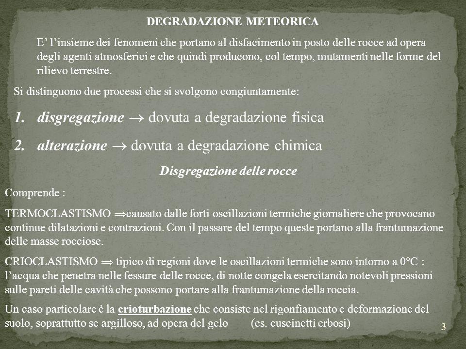 DEGRADAZIONE METEORICA