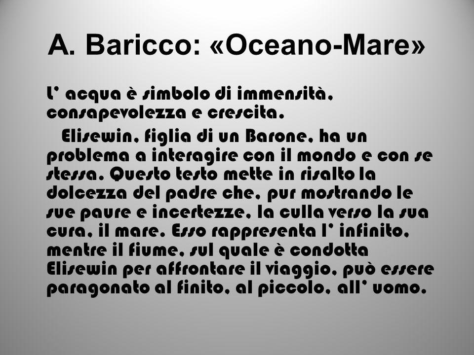 A. Baricco: «Oceano-Mare»