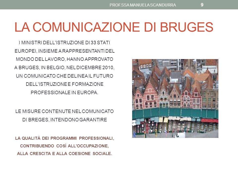 LA COMUNICAZIONE DI BRUGES