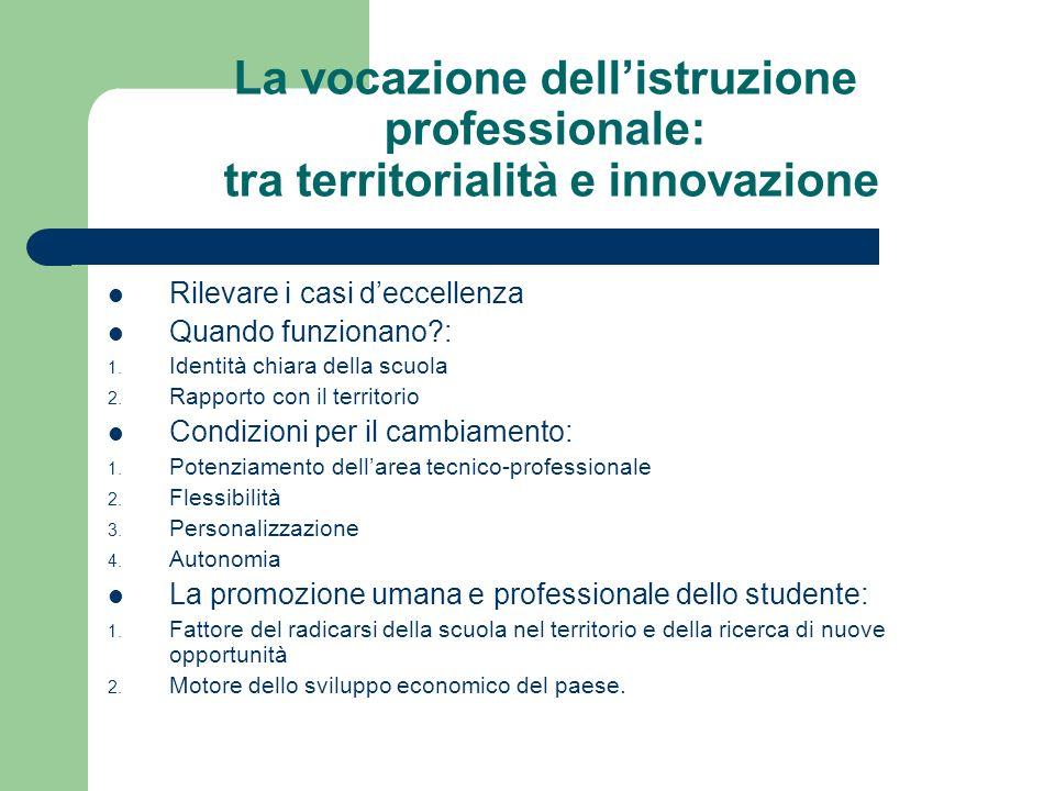 La vocazione dell'istruzione professionale: tra territorialità e innovazione