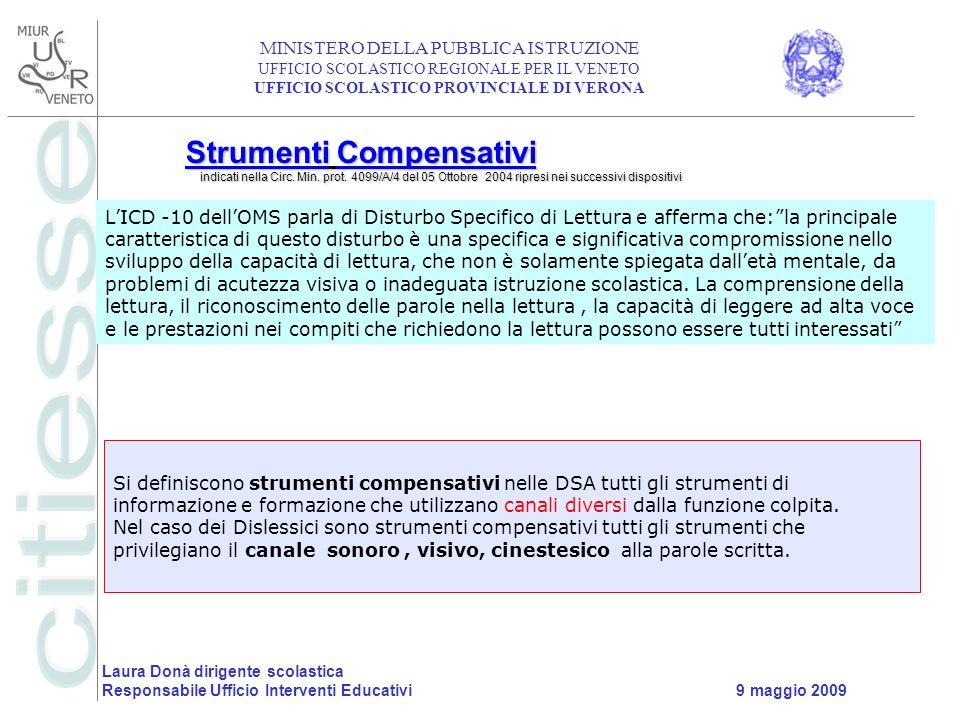 Strumenti Compensativi indicati nella Circ. Min. prot