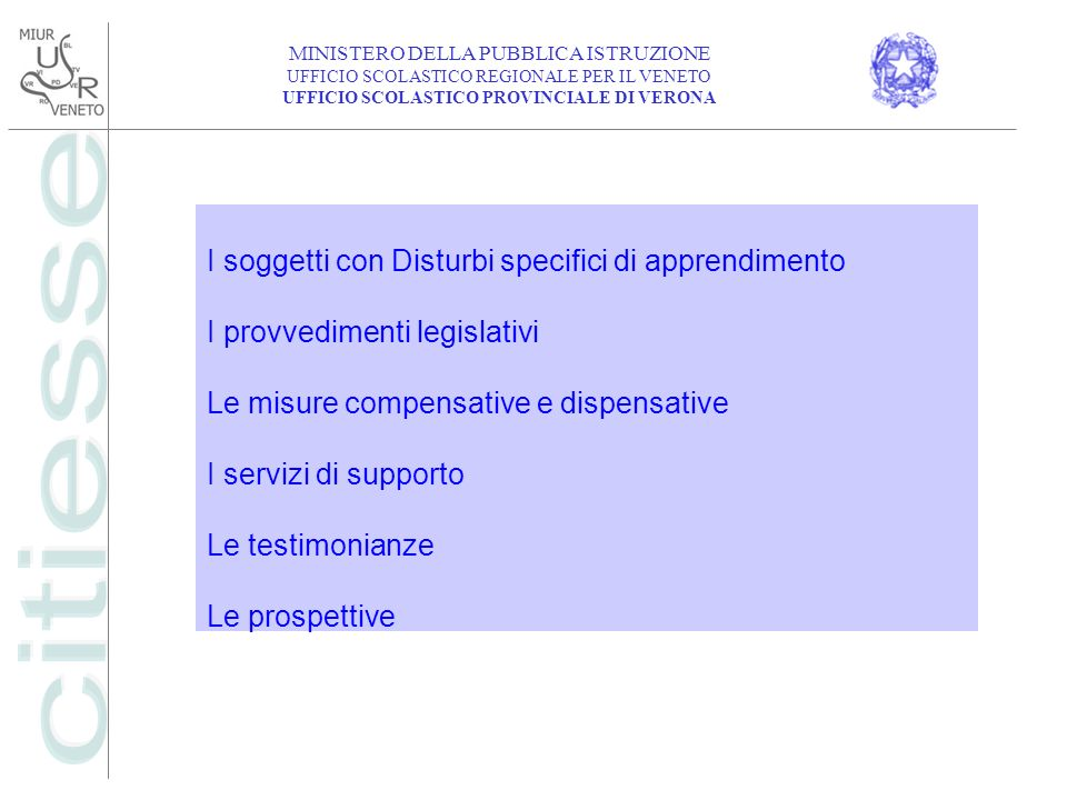 I soggetti con Disturbi specifici di apprendimento