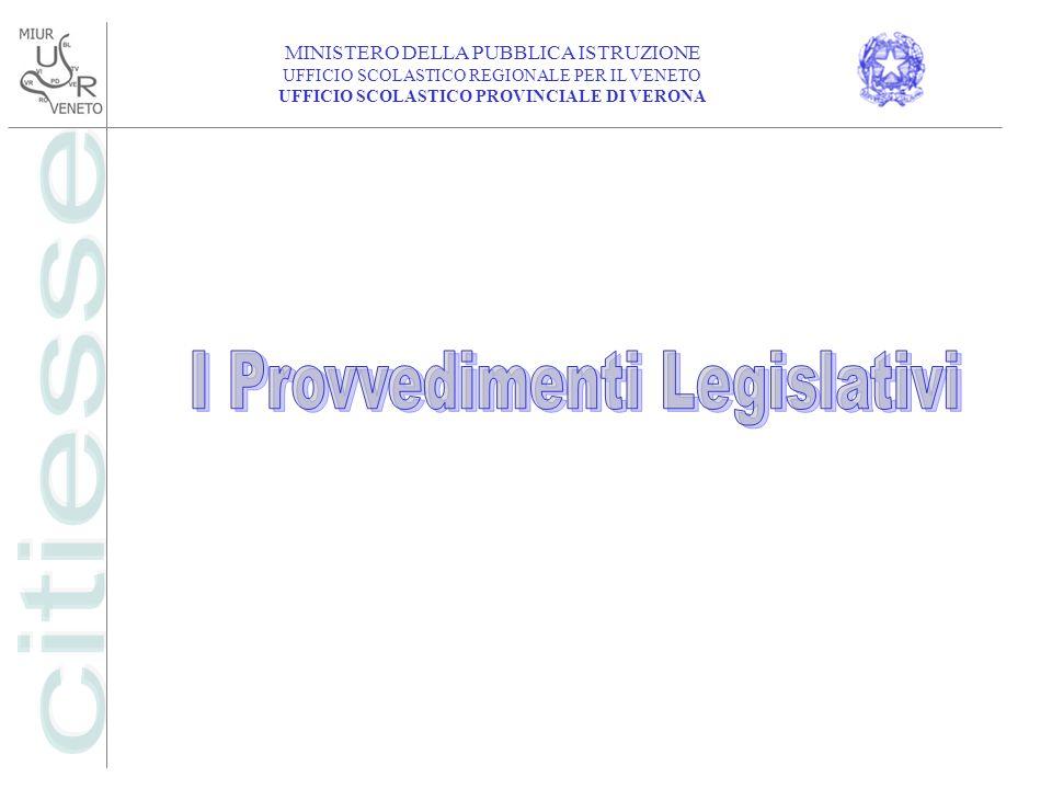 I Provvedimenti Legislativi