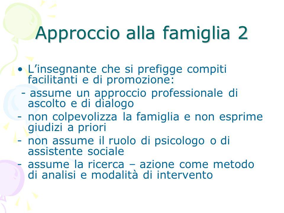 Approccio alla famiglia 2
