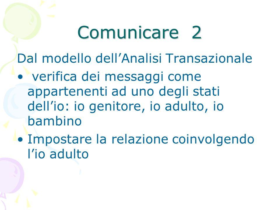 Comunicare 2 Dal modello dell'Analisi Transazionale