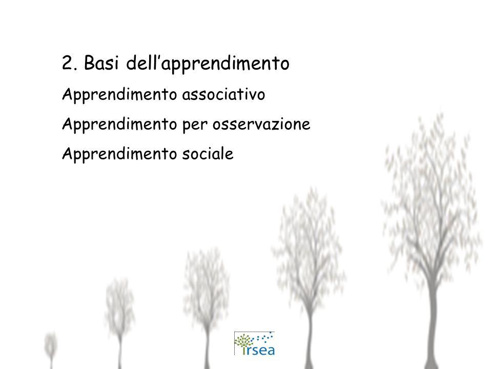 2. Basi dell'apprendimento