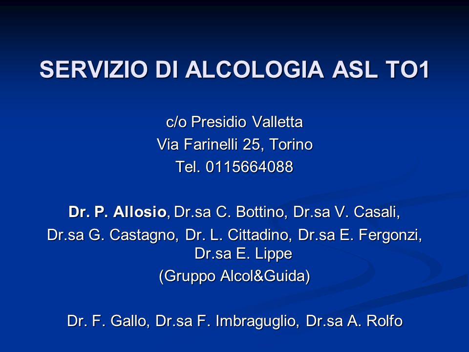 SERVIZIO DI ALCOLOGIA ASL TO1