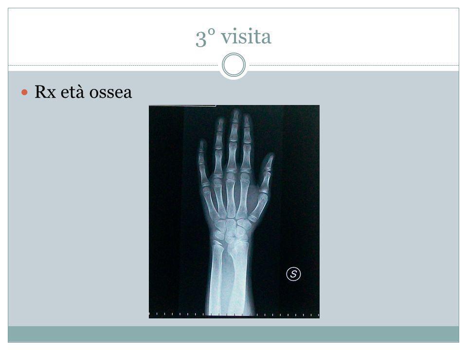3° visita Rx età ossea