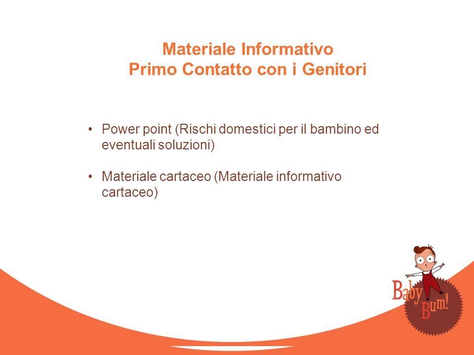 Materiale Informativo Primo Contatto con i Genitori