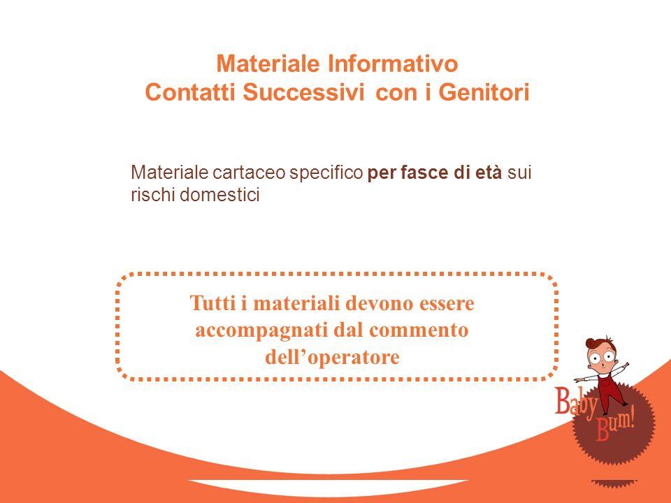 Materiale Informativo Contatti Successivi con i Genitori