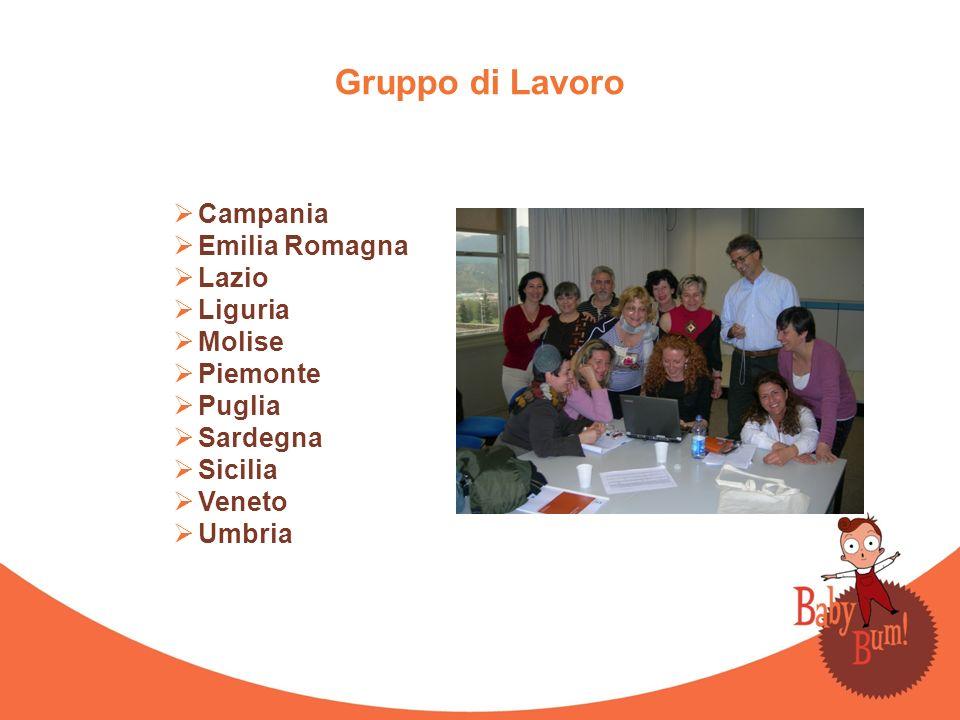 Gruppo di Lavoro Campania Emilia Romagna Lazio Liguria Molise Piemonte