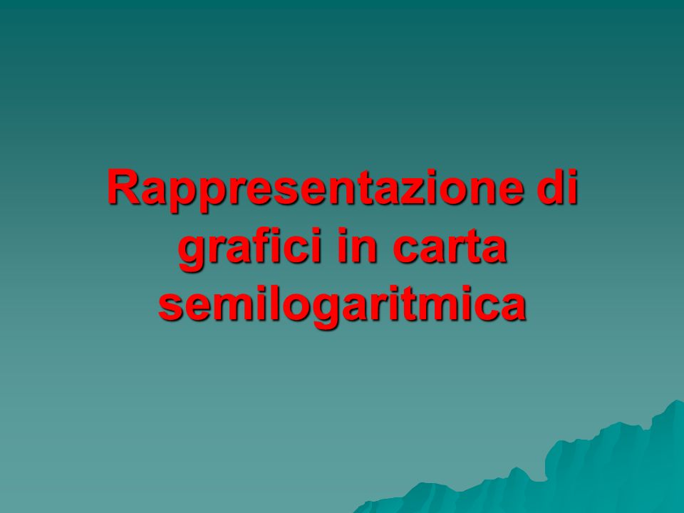Rappresentazione di grafici in carta semilogaritmica