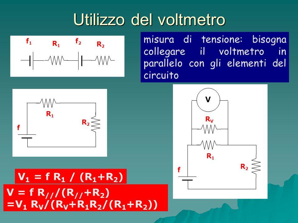 Utilizzo del voltmetro