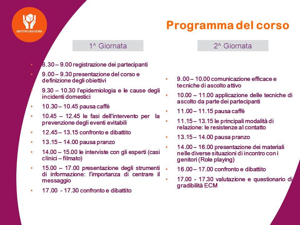 Programma del corso 1^ Giornata 2^ Giornata