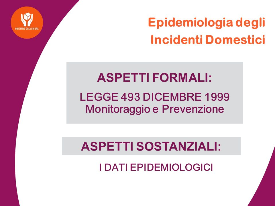 Epidemiologia degli Incidenti Domestici