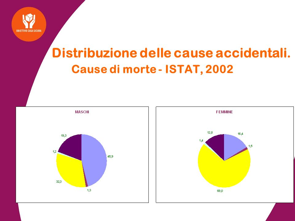 Distribuzione delle cause accidentali. Cause di morte - ISTAT, 2002