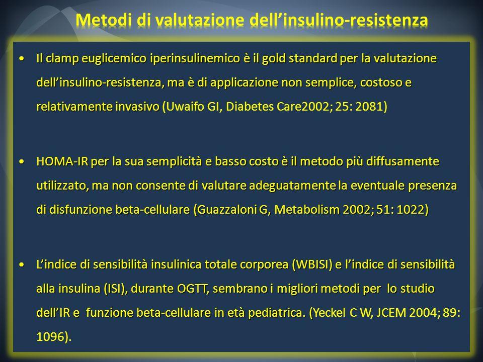 Metodi di valutazione dell'insulino-resistenza