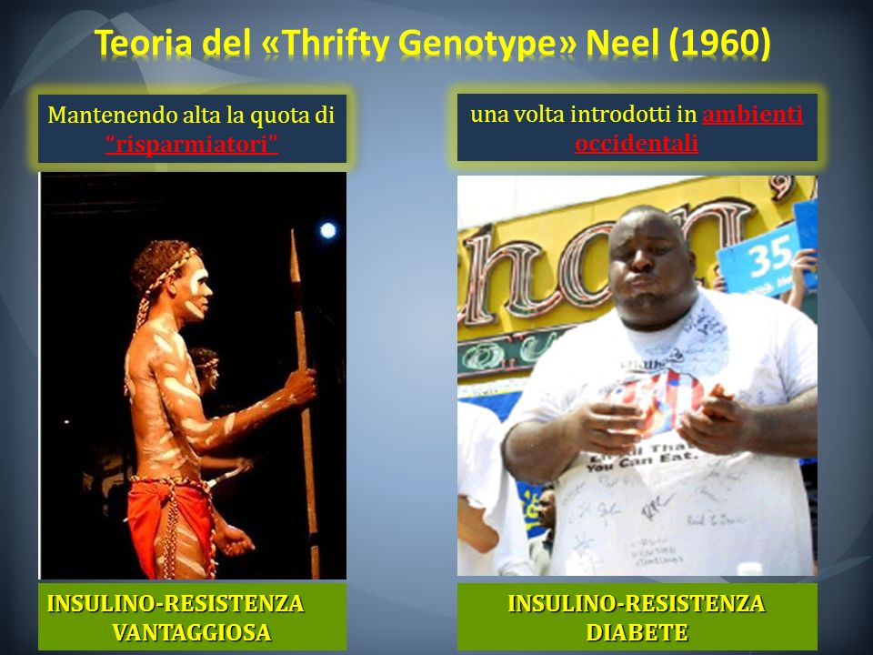 Teoria del «Thrifty Genotype» Neel (1960)