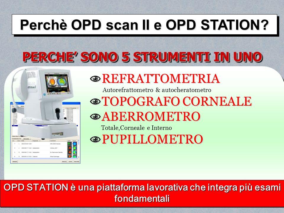 Perchè OPD scan II e OPD STATION PERCHE' SONO 5 STRUMENTI IN UNO