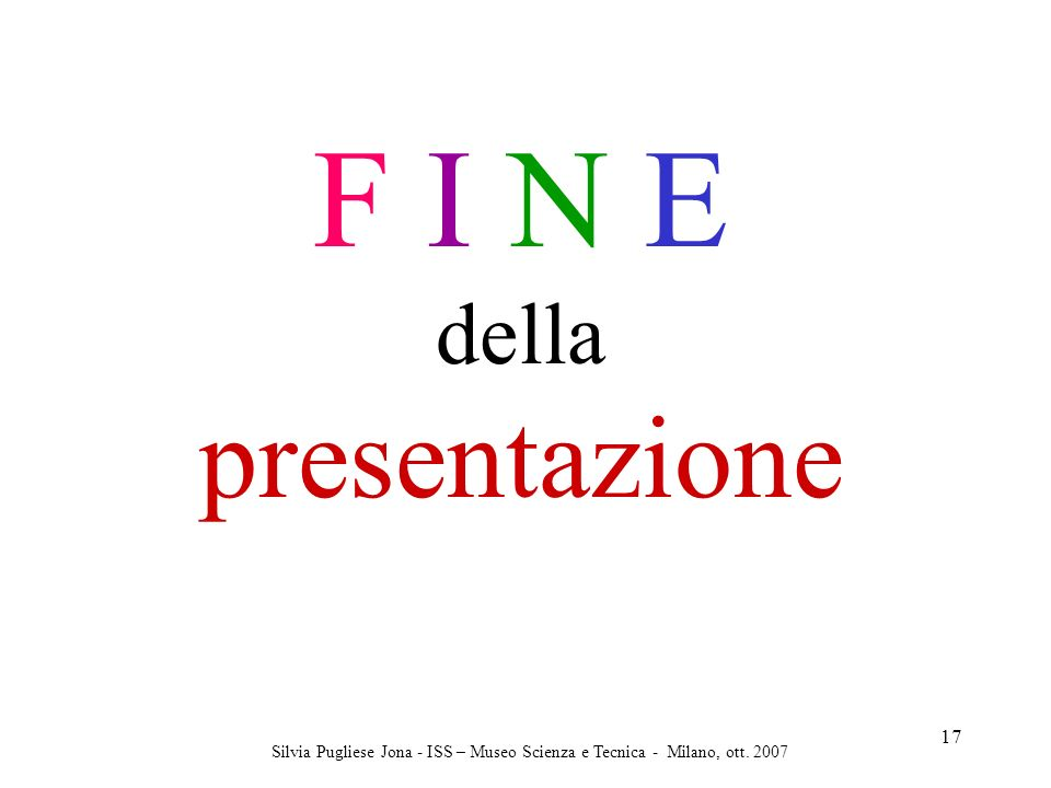 F I N E presentazione della