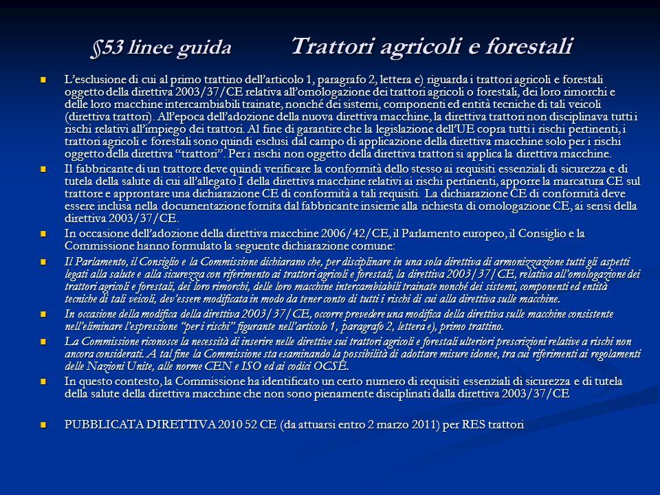 §53 linee guida Trattori agricoli e forestali