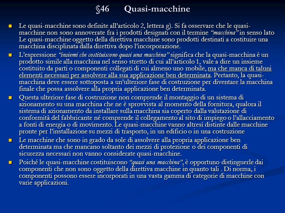§46 Quasi-macchine