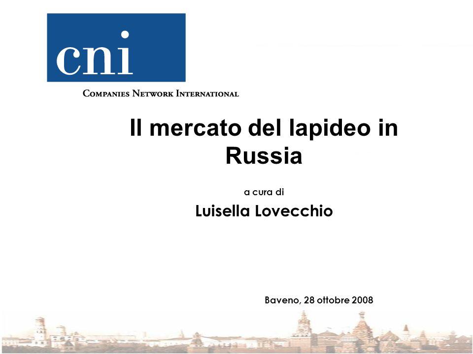 Il mercato del lapideo in Russia a cura di Luisella Lovecchio